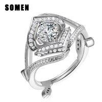 925 Sterling Silber Ring Frauen Herz Luxus Zirkonia Ringe Weiblichen Engagement Hochzeit Band Europäischen Elegante Modeschmuck