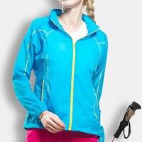 Lightweight Waterproof Breathable Women Summer Jacket Sunscreen Sport Hiking Coat Hoody Outdoor Female Clothing Elastane Spandex