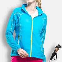 Lightweight Waterproof Breathable Women Summer Jacket Sunscreen Sport Hiking Coat Hoody Outdoor Female Clothing Elastane Spandex