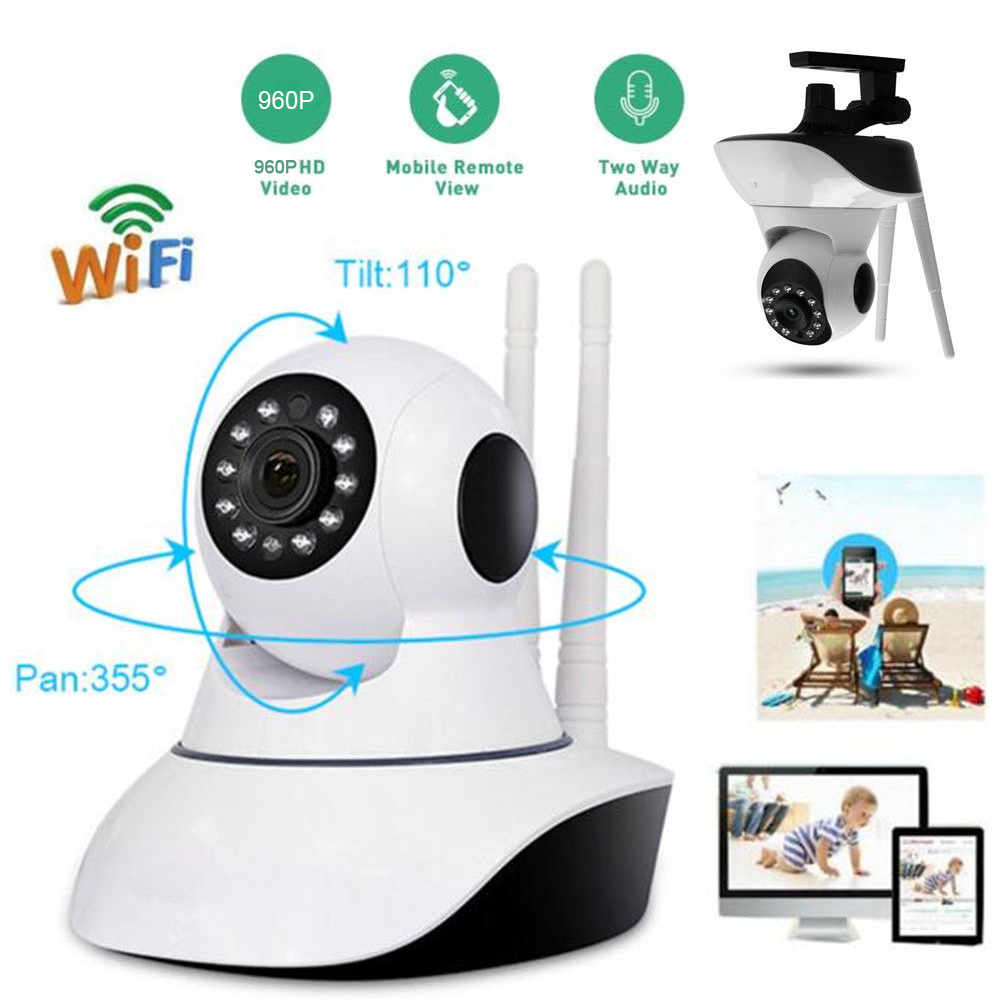 font b Wireless b font WiFi IP Security Camera 960P Indoor Home Surveillance System Monitor