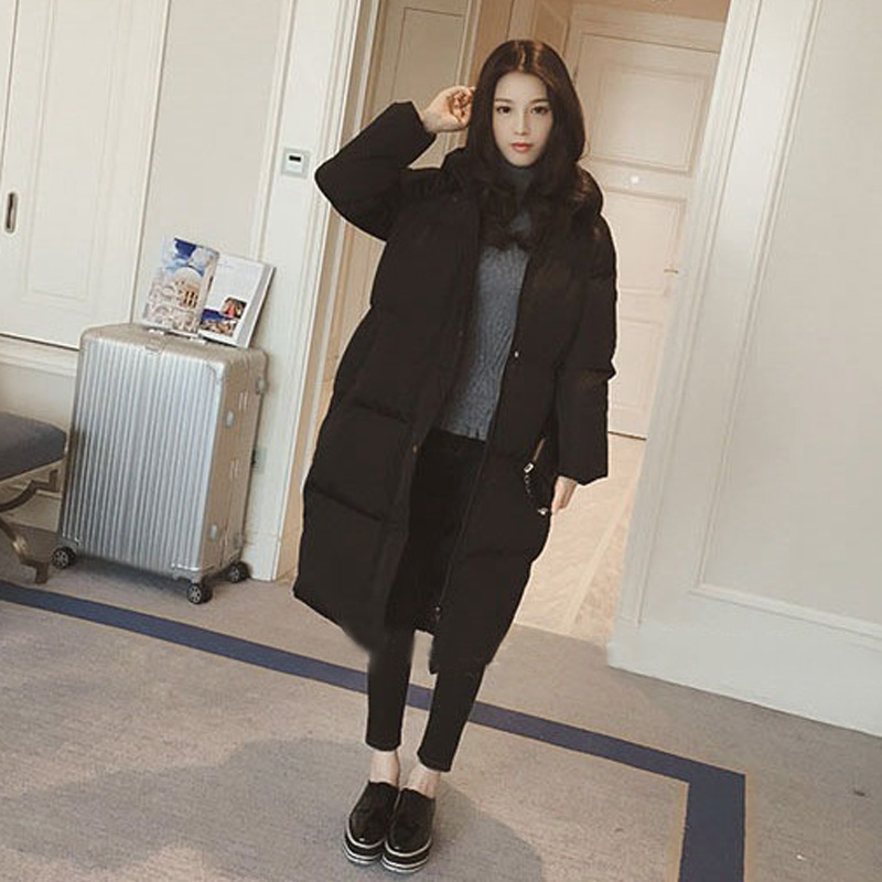 Fashion Womens Solid Color Oversize Overcoats   Parka   Thicken Warm Hooded Outwear