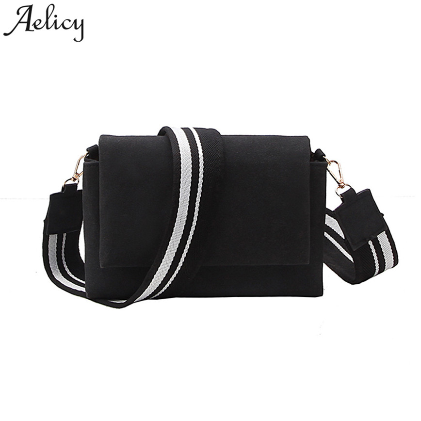 Aelicy Fashion Shoulder Bag Women Striped Straps Small Matte Leather Messager Bags Hasp Lady Crossbody Bag C30