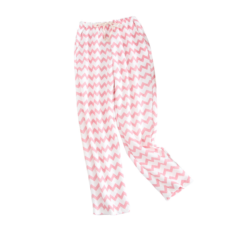 Autumn Winter Cotton Sleep Pants Lounge Wear Night Pijama Pants Air Layer Comfortable Warm Women Trousers