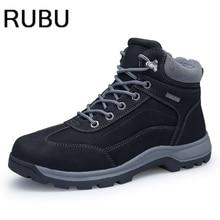 2017 зимние ботинки обувь на меху Для мужчин S плюшевые обувь теплые для Мужские Ботинки Толстая резиновая подошва зимние мужские Сапоги и ботинки для девочек плюс большие размеры 40-46/10