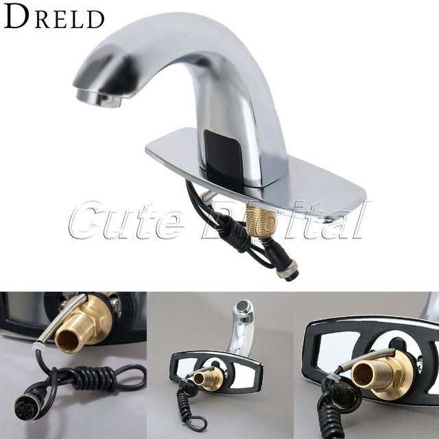 Genial Automatic Electronic Hands Free Bathroom Faucet Basin Cold Water Touchless  Mixer Sensor Tap Infrared Brass Basin