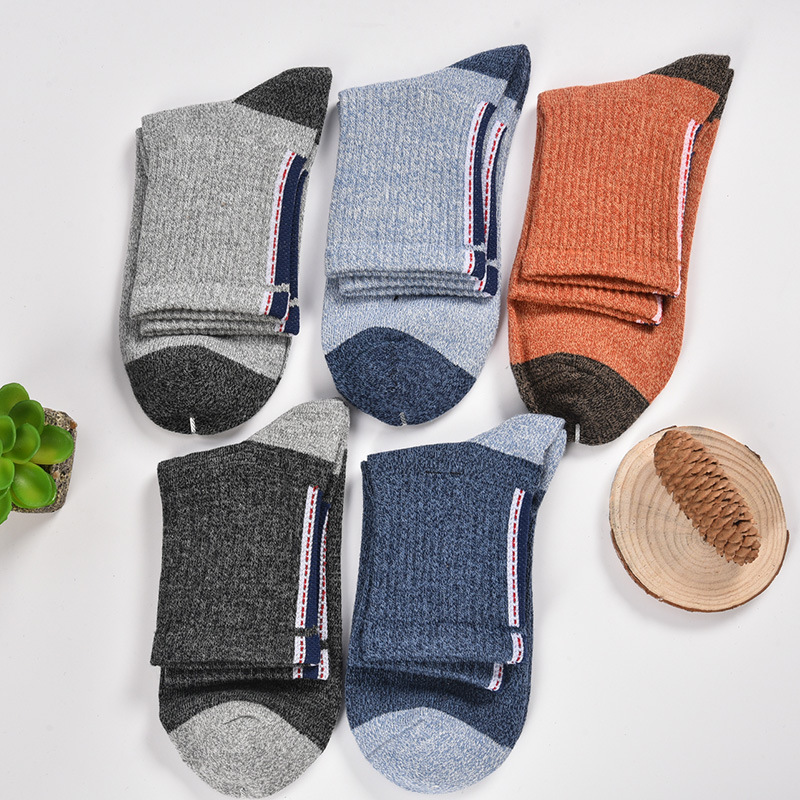 PEONFLY Pure Cotton Man Male happy funny novelty Socks colorful men 5PAIRS/LOT Autumn Winter Pattern meias