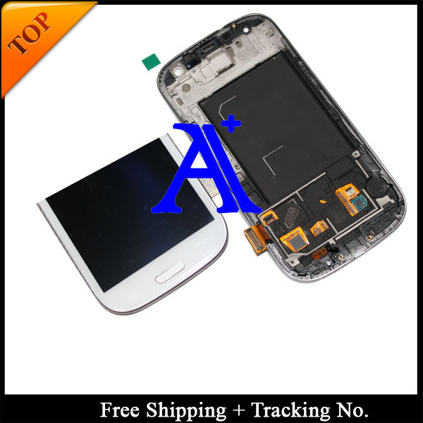 100% tested 4.8' Super AMOLED For Samsung Galaxy S3 neo i9300i LCD I9300 LCD  Digitizer Assembly with frame