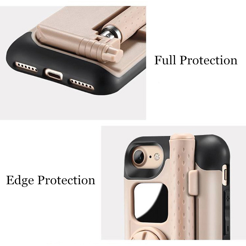 Portable-Bluetooth-Selfie-Stick-Case-For-iPhone-7-Case-Foldable-Stretch-Handheld-Bluetooth-Shutter-Phone-Case
