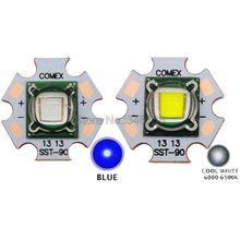 Светодиодная лампа, 30 Вт, яркость SST90, холодный белый свет, 6500K 7000K, синяя, 3,2 нм, высокая мощность 3,4 в, 5 7A, для сцсветильник щения