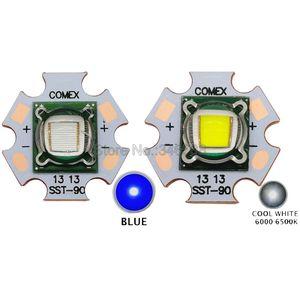 Image 1 - 30W Luminus SST 90 SST90 Lạnh Trắng 6500K   7000K Xanh Dương 455NM Bóng Đèn LED Công Suất Cao Đèn 3.2 3.4V 5 7A Cho Ánh Sáng Sân Khấu