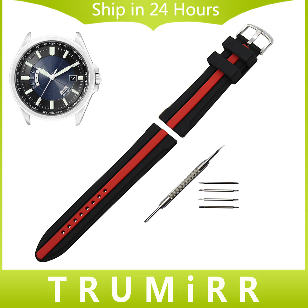 Silicone Rubber Watchband + Tool for Citizen Men Women Watch Band Wrist Strap Bracelet Black Red 19mm 20mm 21mm 22mm 23mm 24mm citizen z250 black автомобильный видеорегистратор