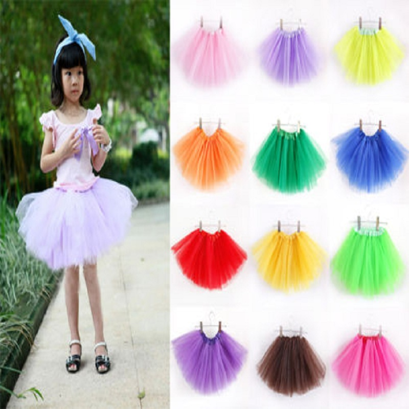 2016 Baby Girls Kids Toddler Tutus Fancy Skirt Up Costume Party Colorful One size Mini SkirtSkirts