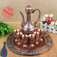 India imported modern fashion crafts antique tea hotel furniture ornaments wine wine set
