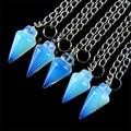 2017 New Arrival Direct Selling Solitaire Kolye Stone Chrysocolla 10pcs Charming Opal Opalite Pendulum Pendant Bead 51101s063
