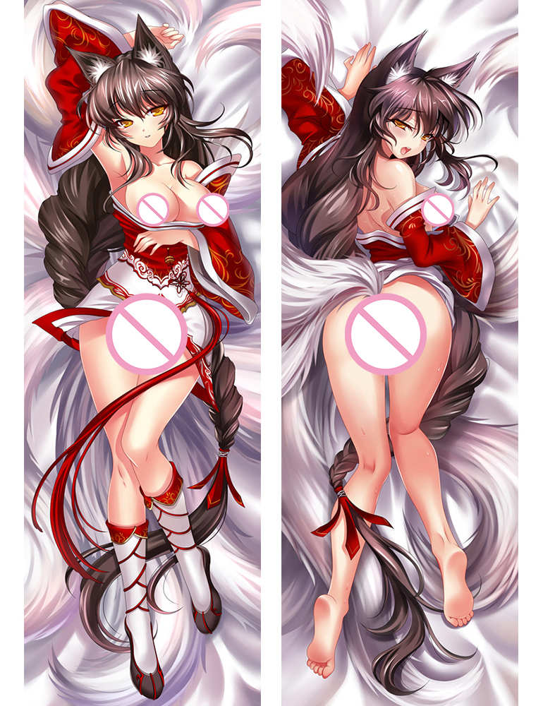 Popular Game Anime Characters Sexy Girl Ahri & Sona Buvelle  Pillow Cover Body Pillowcase Shyvana Dakimakura