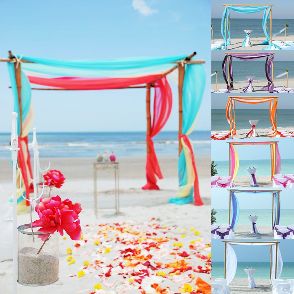 Old fashioned arch decorations for wedding ceremony gallery blue 5m10m sheer organza fabric beach wedding ceremony bouquet arch junglespirit Choice Image