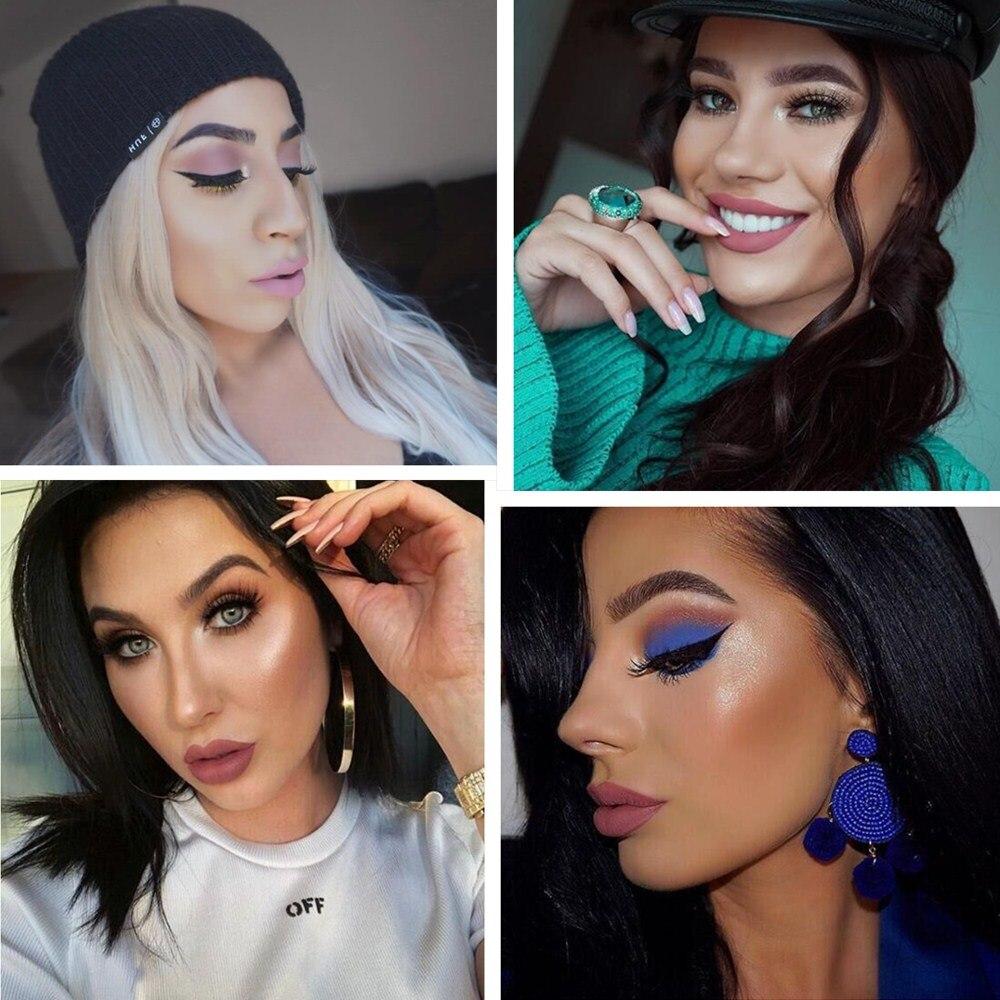 2018 New Women Makeup Vattentät Batom Tint Lip Gloss Red Velvet True - Smink - Foto 6
