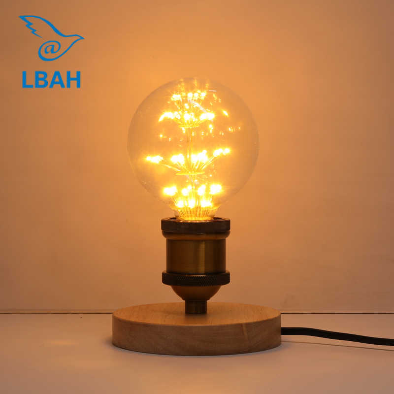 Modern Table Lamp Wooden Base Book Lights Bedroom Decorate Desk Lamp E27 Holder Bedside Table Light 1.8 meter wire long