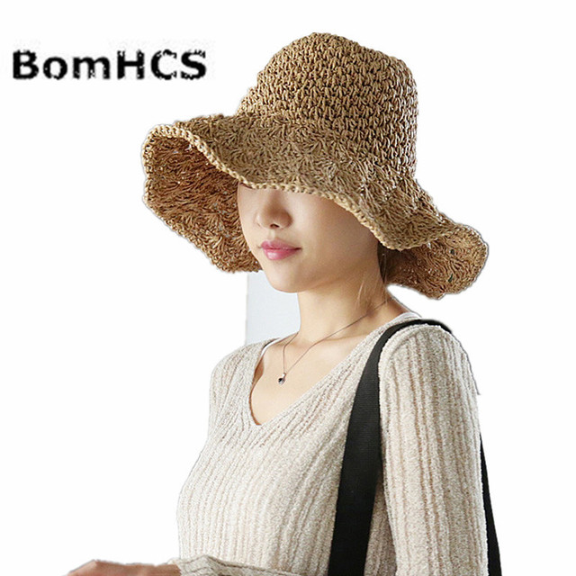 BomHCS verano Girls Caps mujeres ganchillo hecho a mano sombrero de ...