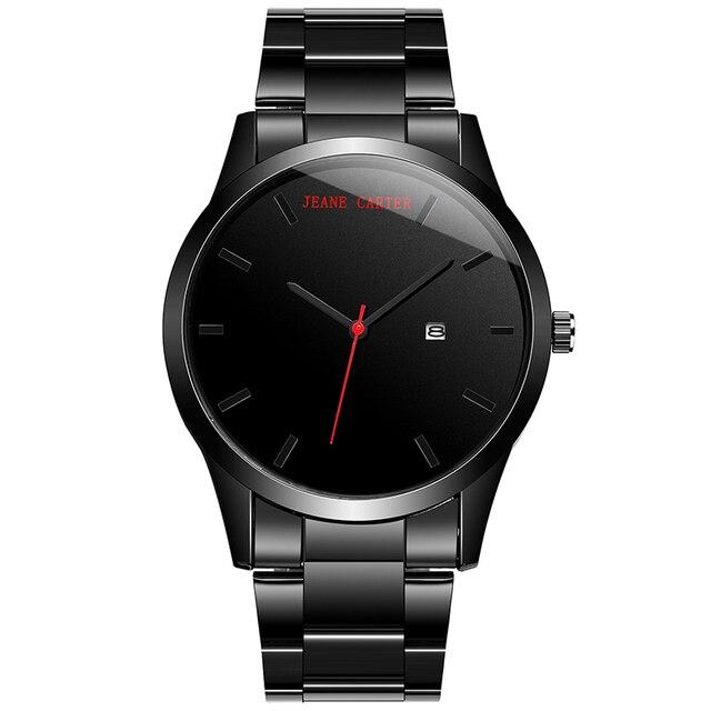 2018 חיוג גדול אופנה גברים קוורץ הצבאי שעונים נירוסטה ספורט לוח שנה שעונים שעון שעוני יד Relogio Masculino JC-6