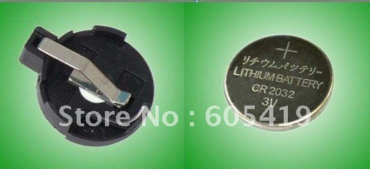 1200pcs CR2032 <font><b>battery</b></font> <font><b>holder</b></font> (CR2032-3, BS-3 ) AND 1200pcs CR2032 <font><b>button</b></font> <font><b>cell</b></font> <font><b>batteries</b></font>