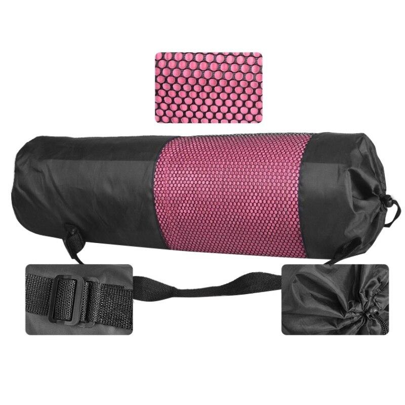 Portable Yoga Mat Bag Adjustable Strap Nylon Mesh Sport Tool Carrier