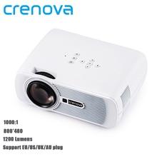 Crenova XPE460 1000:1 de Contraste Ayuda 1080 P Home Cinema Proyector LED Proyector de Vídeo