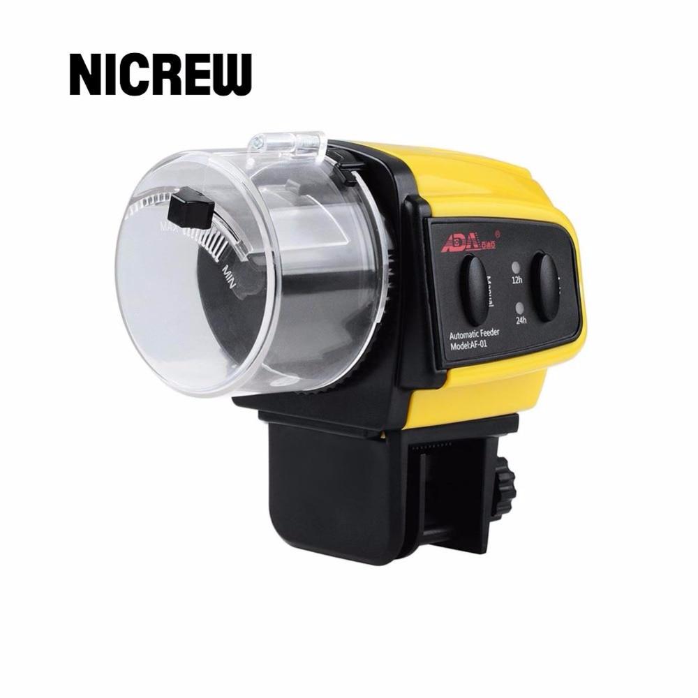 Nicrew aquarium tank automatic fish feeder digital lcd for Fish feeder timer