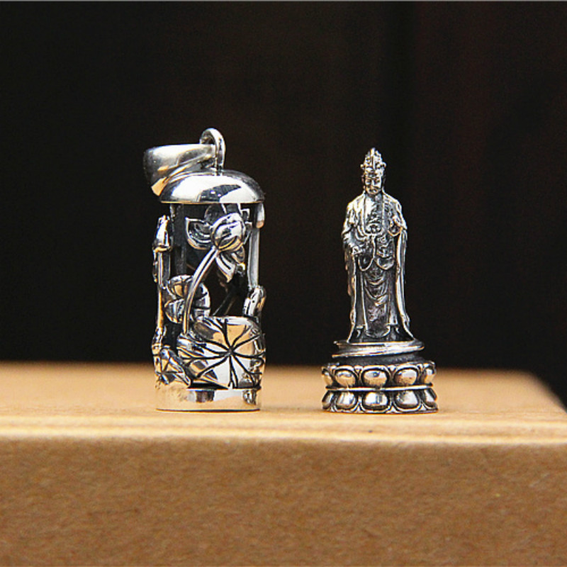 100% 925 Sterling Silver Pendant Kwan-Yin Guan Yin Bodhisattva Women Mens Amulet Lucky Jewelry Necklace Pendants 100% 925 Sterling Silver Pendant Kwan-Yin Guan Yin Bodhisattva Women Mens Amulet Lucky Jewelry Necklace Pendants