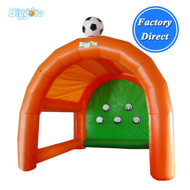 Portable outdoor target inflatable football gate inflatable soccer goal for kids mzqm inflatable soccer shootout football inflatable football toss game high quality outdoor game inflatable goal for football