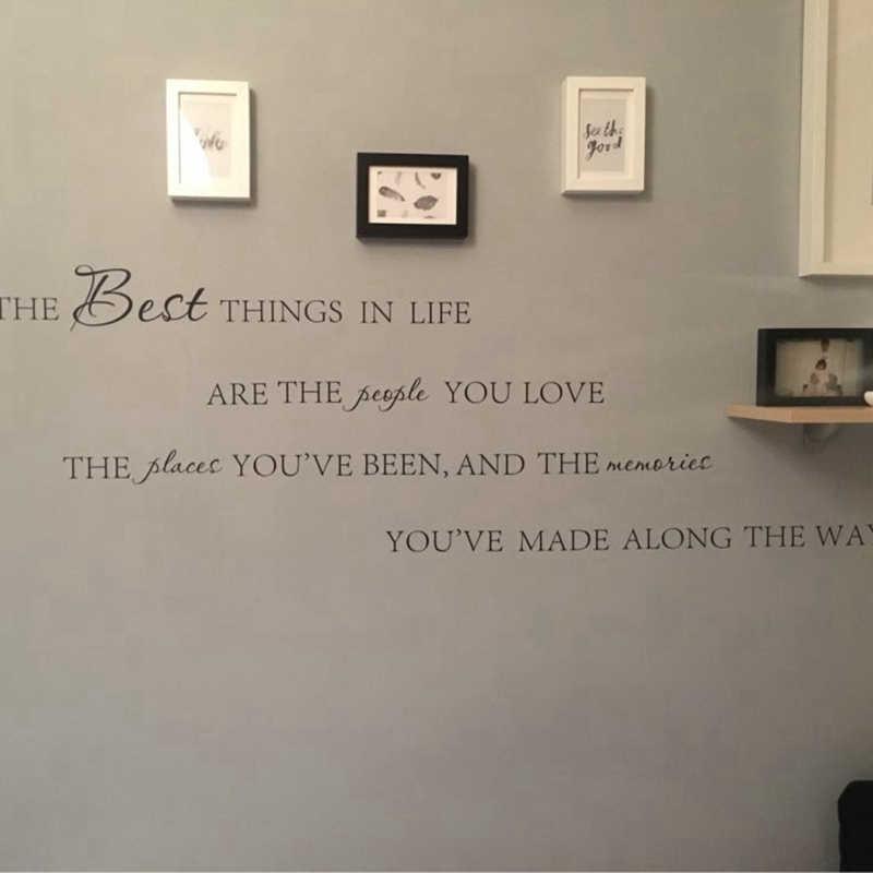 ที่ดีที่สุดในชีวิต decals ผนังไวนิล ~ รักความทรงจำ Wall หน้าแรก Art Decal ไวนิลสติกเกอร์, จัดส่งฟรีขนาดใหญ่ใหม่