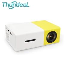 Новые YG300 мини Портативный светодиодный проектор для домашнего кинотеатра игры proyector плеер с SD HDMI USB Встроенный динамик Батарея
