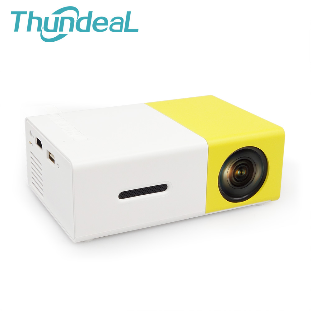 YG300/YG310 Mini Portable LED Projector For Home Theater Game Beamer Proyector Player SD HDMI USB Built-in Speaker LCD Beamer
