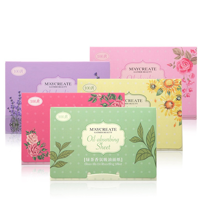 Facial Oil Blotting Paper Face Absorbing Oil Sheet Oil Control Film Face Clean 100 Pcs/ Bag