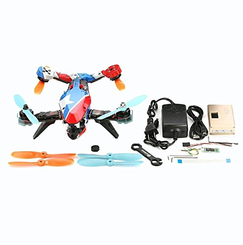 F19757 Happymodel V-tail 210 FPV Drone ARF PNF Kit (NO TX RX) 1080P HD DVR/ SP Racing F3 FC/ 5.8G 40CH 200mW VTX / OSD/ GPS/ LED eachine ts5840 upgraded 40ch 5 8g 200mw wireless av transmitter tx for fpv multicopter