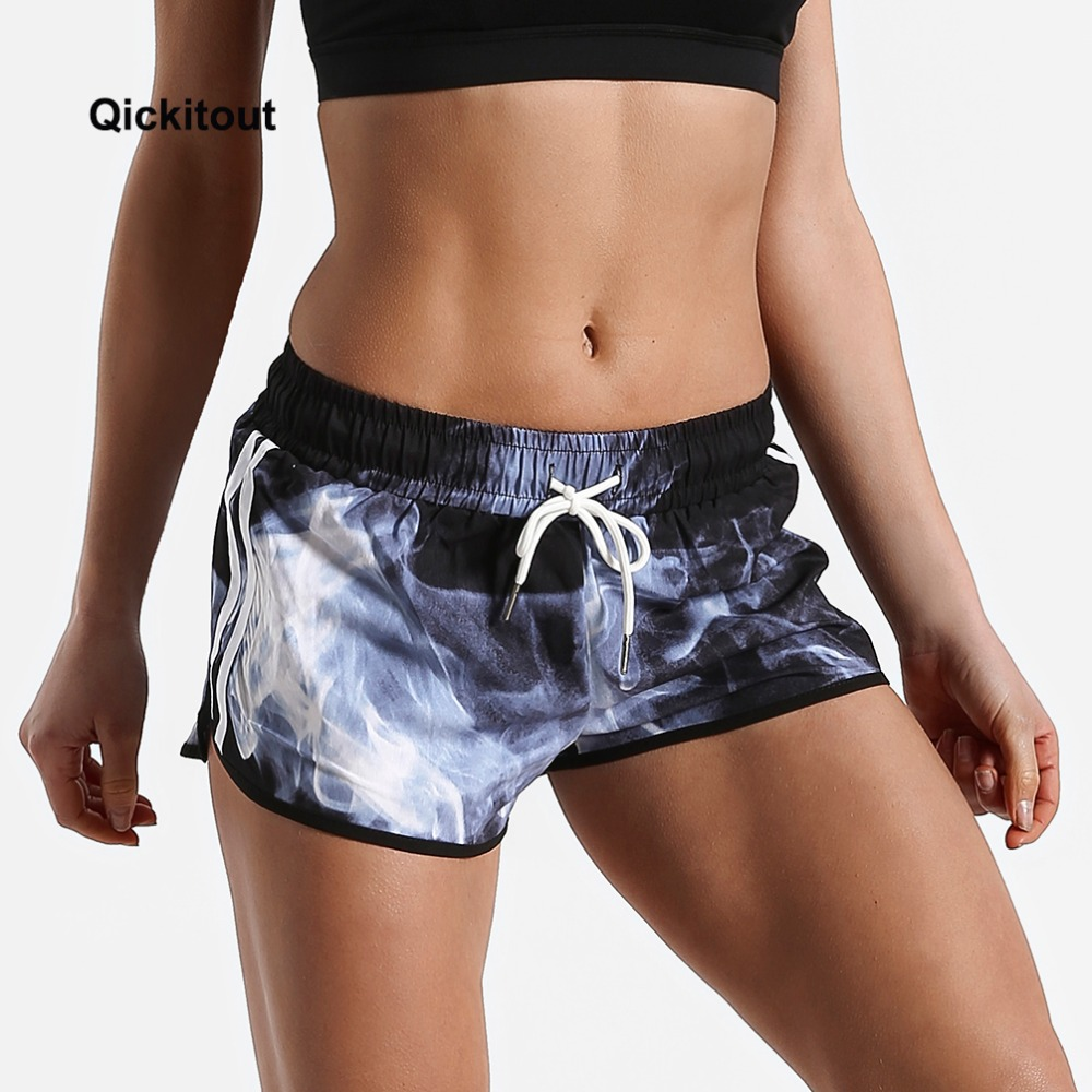 Qickitout Sexy Casual Mini   Shorts   Workout Waistband Skinny Women Summer Silk Slim Dark Blue Smoke Linger Loose   Shorts   Big Size