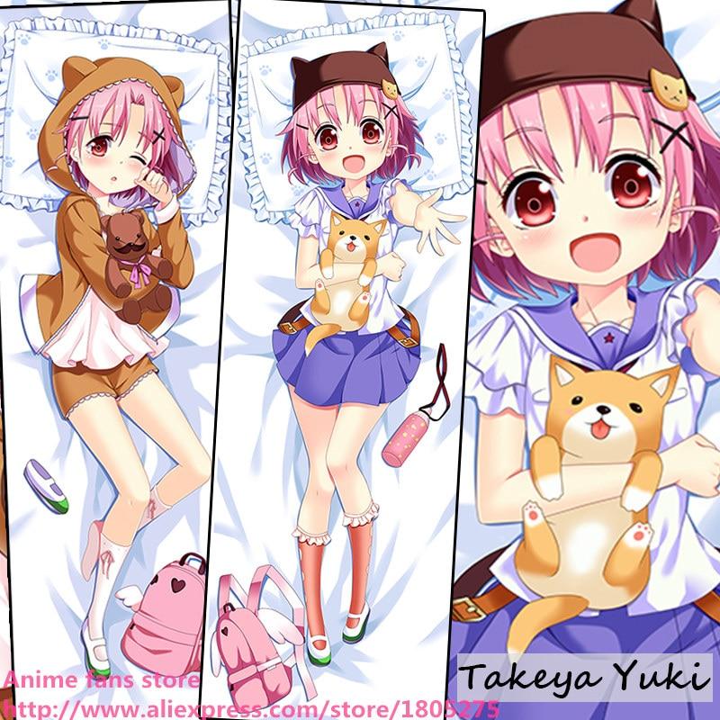 Cute Japanese Anime Pillowcase School-Live Takeya Yuki Loli Lovely Kawaii Pillow Case decorative Hugging Body Bedding - fans store