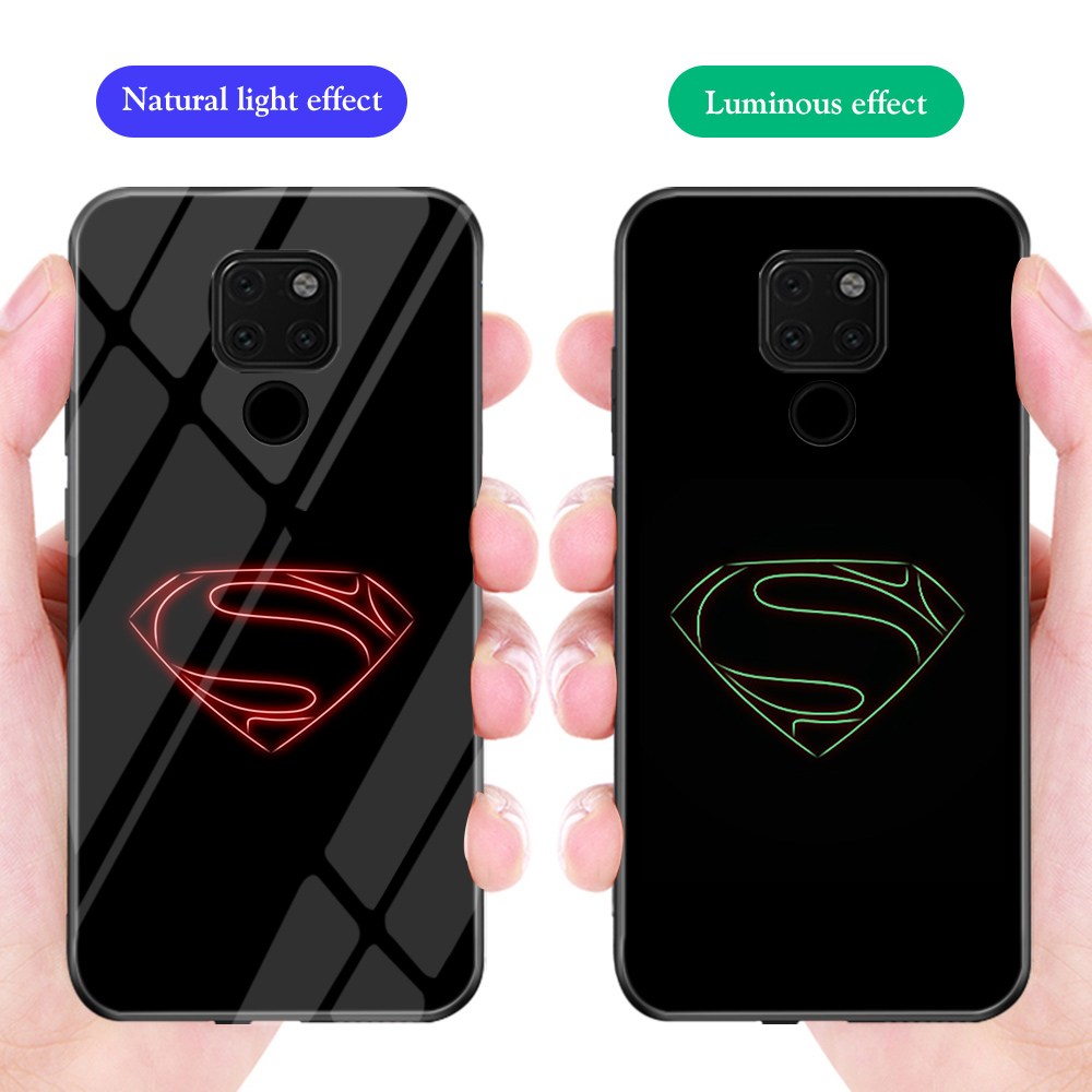 ciciber Phone Cases for Huawei Mate 20 Pro for Honor 10 Lite Funda Marvel Avengers Venom Superman Luminous Tempered Glass Cover image