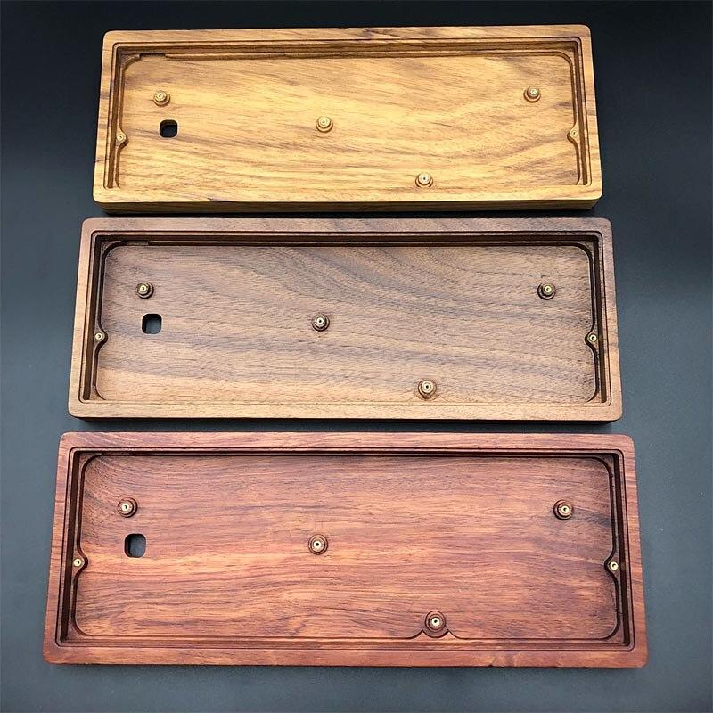 GH60 clavier boîtier en bois carte PCB plaque de Position axe Satellite et repose-poignet en bois de noyer pour coque en bois Gh60 complète