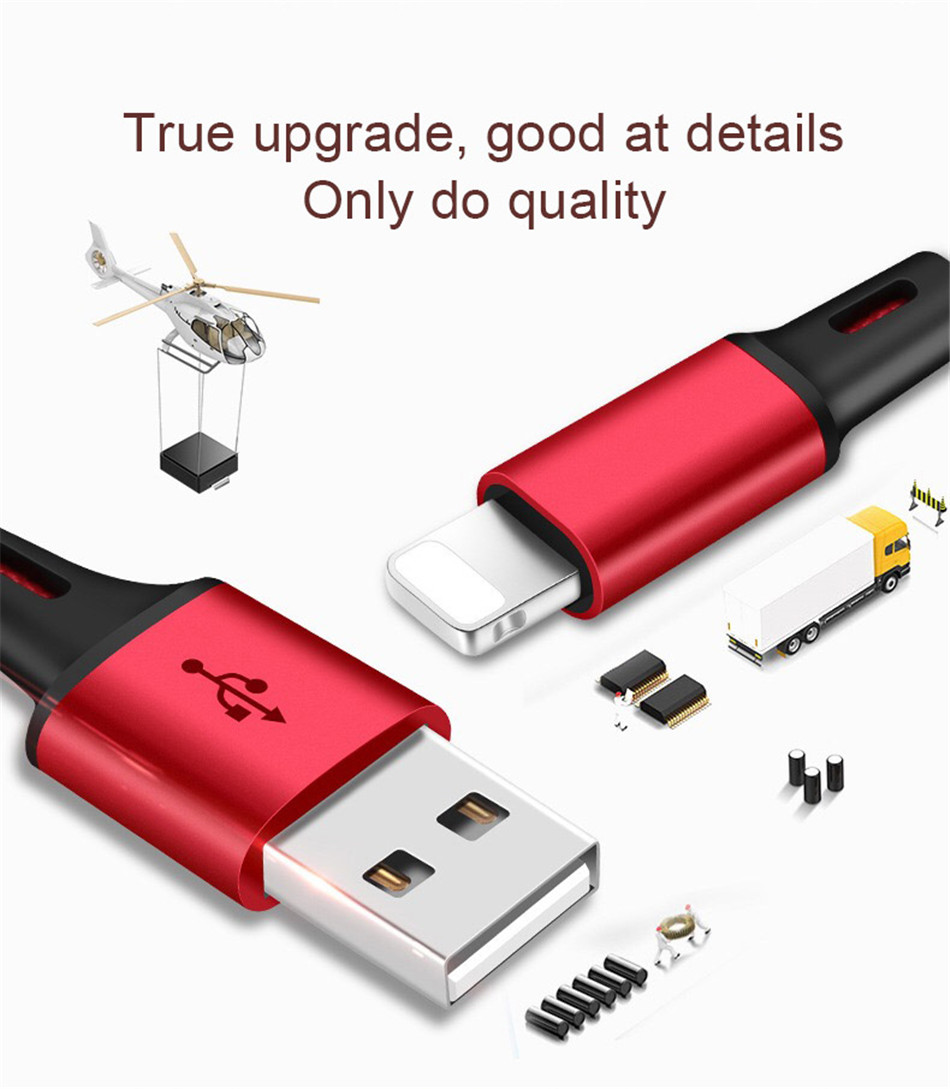 !ACCEZZ 3 in 1 Charging Cable Lighting For iPhone 8 Plus X XR XS Max Micro USB Type C For Samsung S8 Xiaomi 6 Charger Cord Line (5)