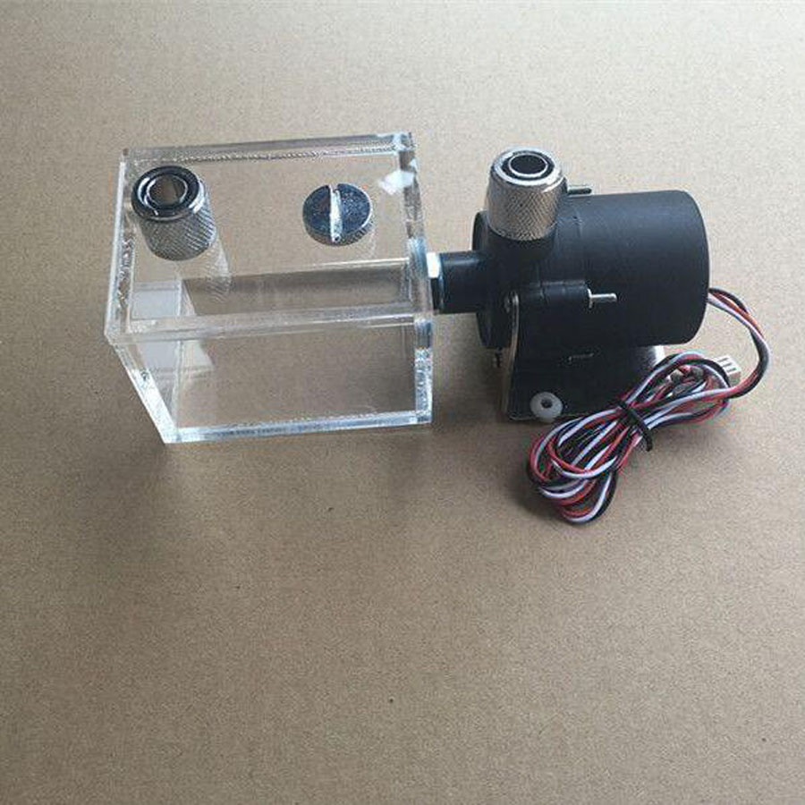 160ML cylinder water tank + SC600 pump KuaiNing fitting set Maximum flow 600L/H computer water cooling radiator 240mm cylinder water tank sc600b pump all in one set maximum flow 500l h computer water cooling radiator