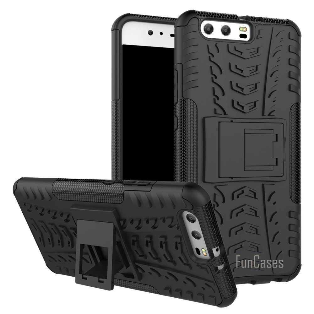 Корпус для Huawei P10 Plus чехол 5,5 дюймов Гибридный Kickstand Dazzle прочный резиновый броня PC + TPU функция подставки противоударный чехол