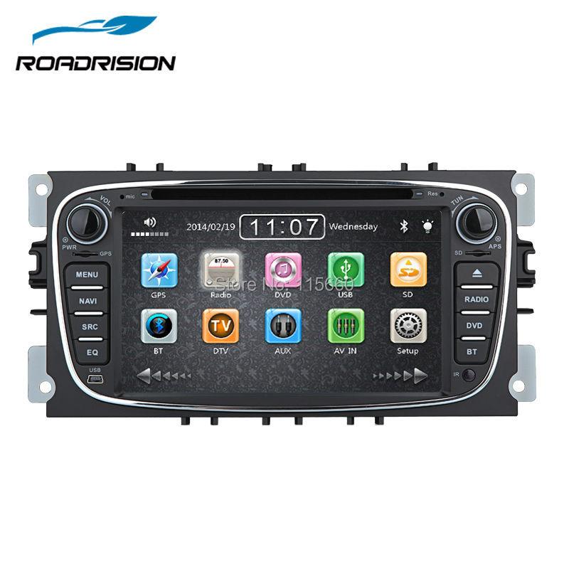 imágenes para Estéreo del coche de Navegación GPS para Ford Focus Mondeo s-max Kuga Radio RDS Reproductor de DVD Multimedia Headunit Sat Nav Autoradio Bluetooth