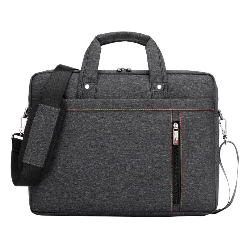 13 Inch big size Nylon Computer Laptop Solid Notebook Tablet Bag Bags Case Messenger Shoulder unisex men women Durable (Black)