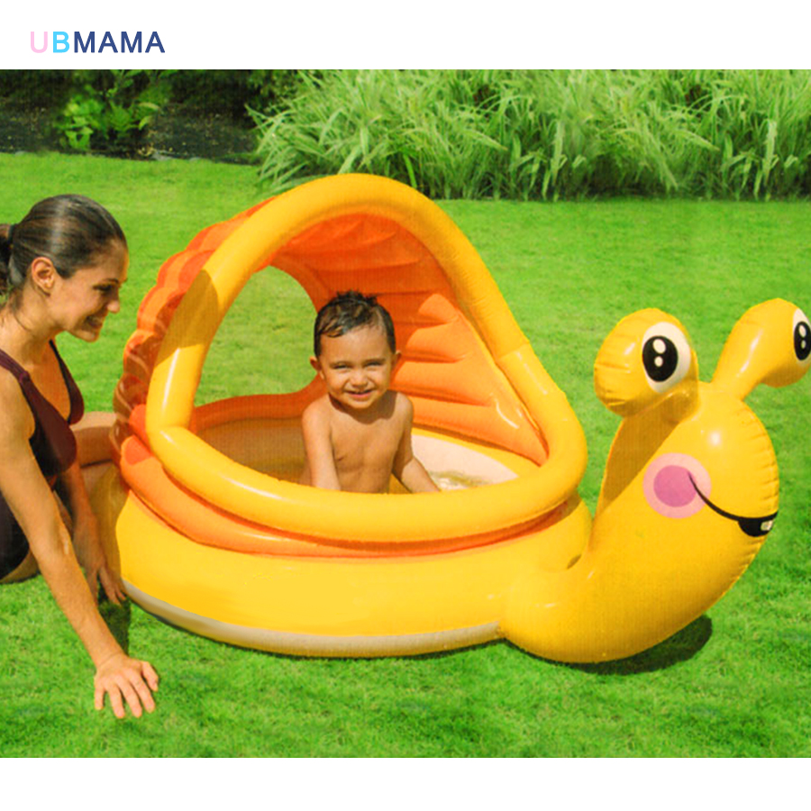 Orange snails shape Plastic Thickening material Awning window Play water play ball Take a bath High quality cute swimming pool 192 150 88 lovely baby play pool inflatable marine ball water pool infants thickening fishing swimming pool zwembad a102