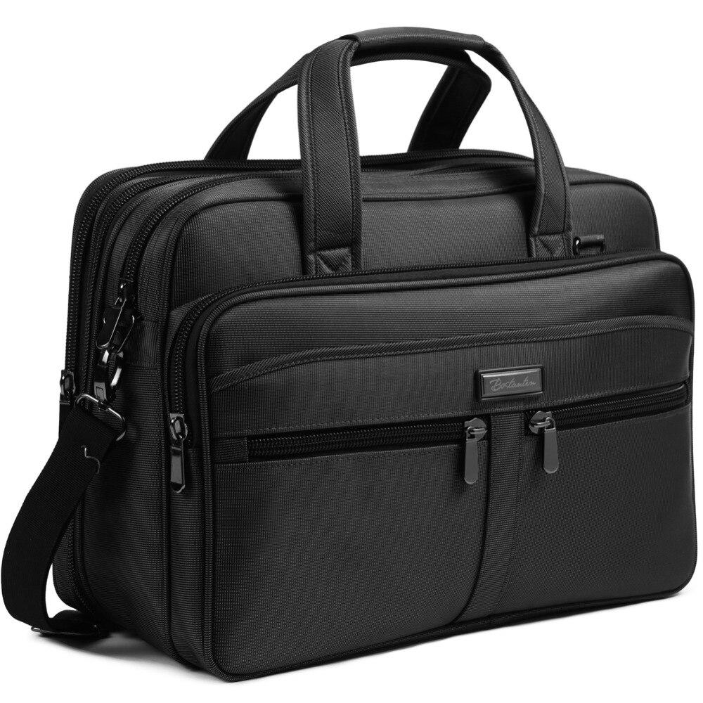 BOSTANTEN 17 inch Laptop Bag Case Expandable Briefcases for men Hybrid Computer Water Resisatant Business Messenger