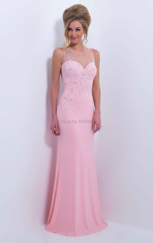 Dorable Vestido De Fiesta De Color Rosa Con Cuentas Foto - Colección ...
