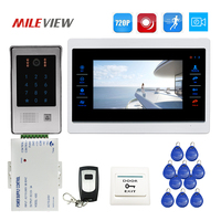 Free Shipping 1 0MP 720P AHD 7 Screen Video Door Phone Intercom Record Monitor Kit Code