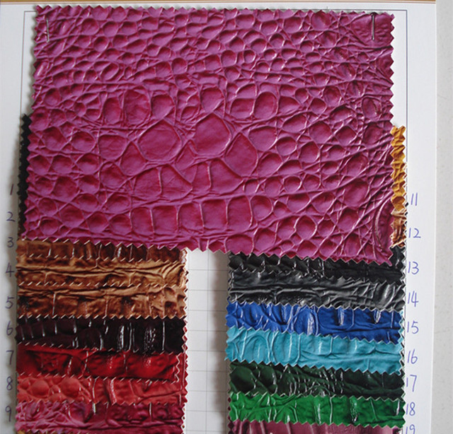 1.2mm Thick Wholesalefabric Crocodile/ Furniture Upholstery Material/ High  Quality Synthetic PU Crocodile Skin