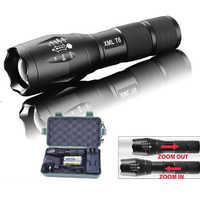 Охота лазерный светодиодный фонарь Тактические вспышки света 10000 люмен T6/L2/V6 Масштабируемые 5 режимов Lanterna светодиодный факельные фонарики